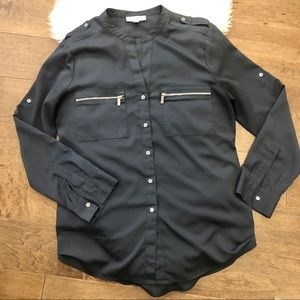 🚨2/$20🚨Calvin Klein Navy blouse